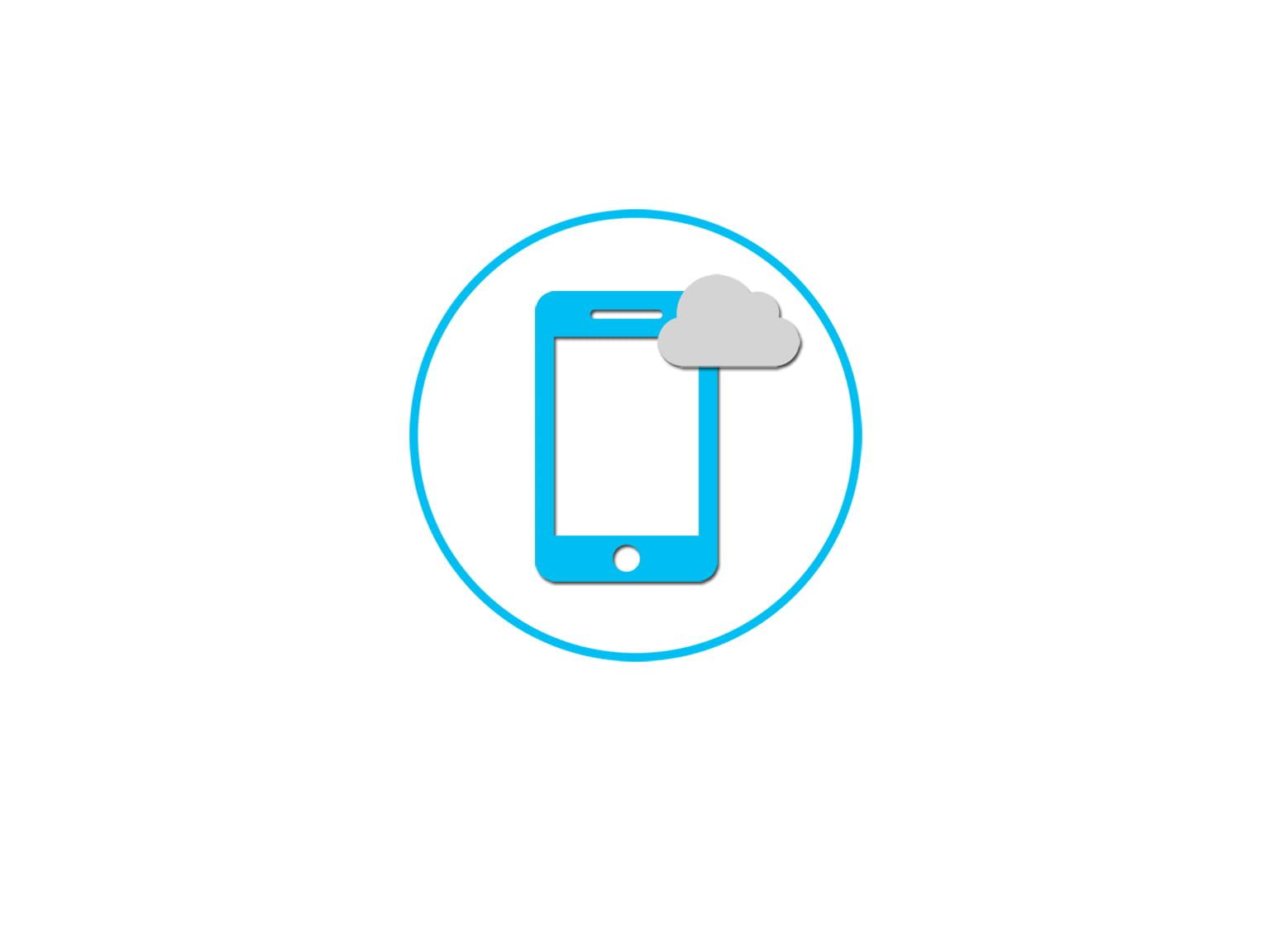 Mobilie un mākoņpakalpojumi ikona