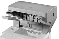 Laser printer with finisher