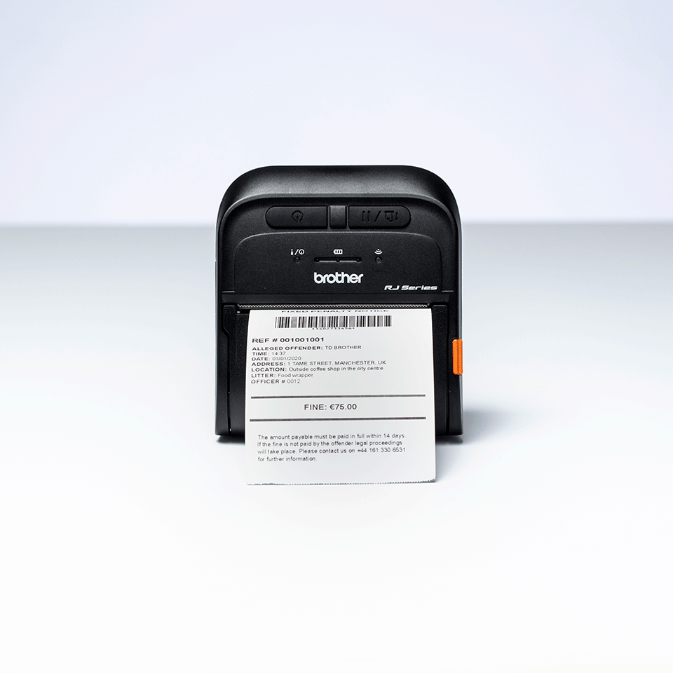 Brother RJ-3035B mobilais kvīšu printeris 5