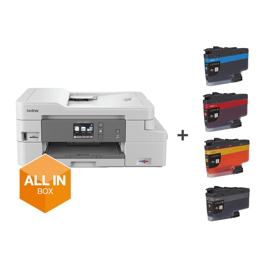 Bezvadu tīkla 3-in-1 krāsu tintes printeris DCP-J1100DW - iepakojums