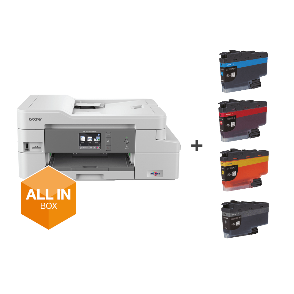 DCP-J1100DW Bezvadu tīkla 3-in-1 krāsu tintes printeris - iepakojums 7