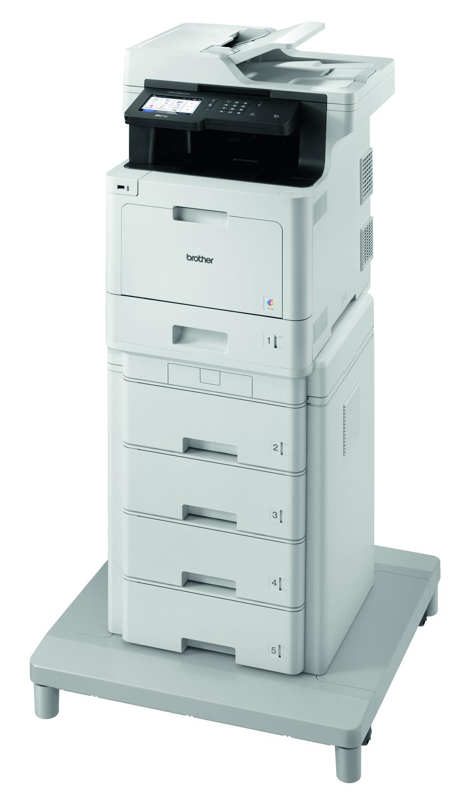 MFC-L8900CDWMT Profesionāla krāsu druka, abpusējas drukas funkcija, Wi-Fi, daudzfunkciju lāzerdrukas printeris + torņveida papīra padeve + torņveida papīra padeves savienotājs 2
