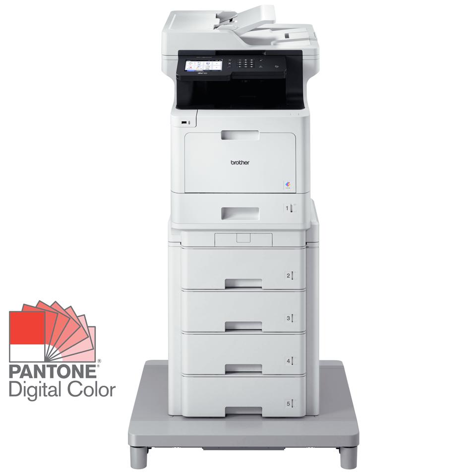 MFC-L8900CDWMT Profesionāla krāsu druka, abpusējas drukas funkcija, Wi-Fi, daudzfunkciju lāzerdrukas printeris + torņveida papīra padeve + torņveida papīra padeves savienotājs