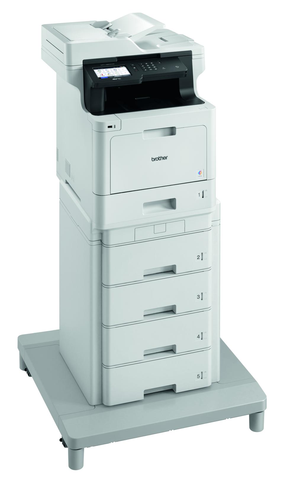 MFC-L8900CDWMT Profesionāla krāsu druka, abpusējas drukas funkcija, Wi-Fi, daudzfunkciju lāzerdrukas printeris + torņveida papīra padeve + torņveida papīra padeves savienotājs 3