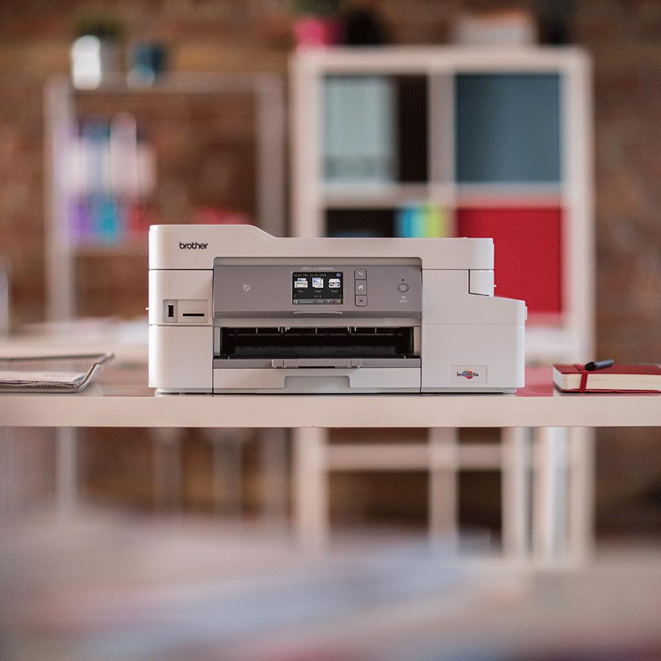 Bezvadu tīkla 4-in-1 krāsu tintes printera MFC-J1300DW akcijas iepakojums 3