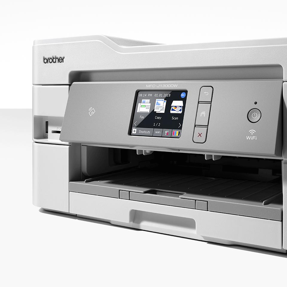 Bezvadu tīkla 4-in-1 krāsu tintes printera MFC-J1300DW akcijas iepakojums 6
