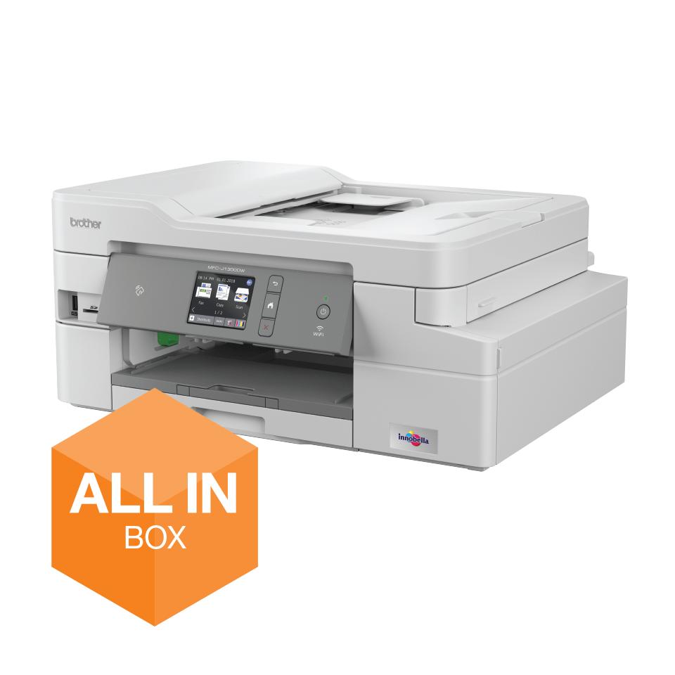 Bezvadu tīkla 4-in-1 krāsu tintes printera MFC-J1300DW akcijas iepakojums