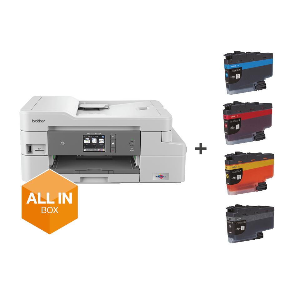 Bezvadu tīkla 4-in-1 krāsu tintes printera MFC-J1300DW akcijas iepakojums 8