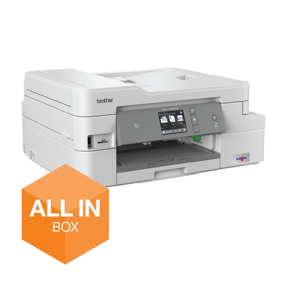 Bezvadu tīkla 4-in-1 krāsu tintes printera MFC-J1300DW akcijas iepakojums 2