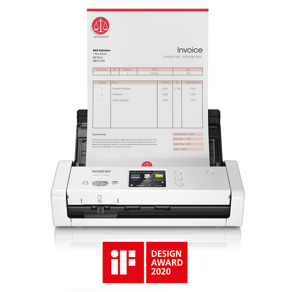 ADS-1700W kompakts dokumentu skeneris 4