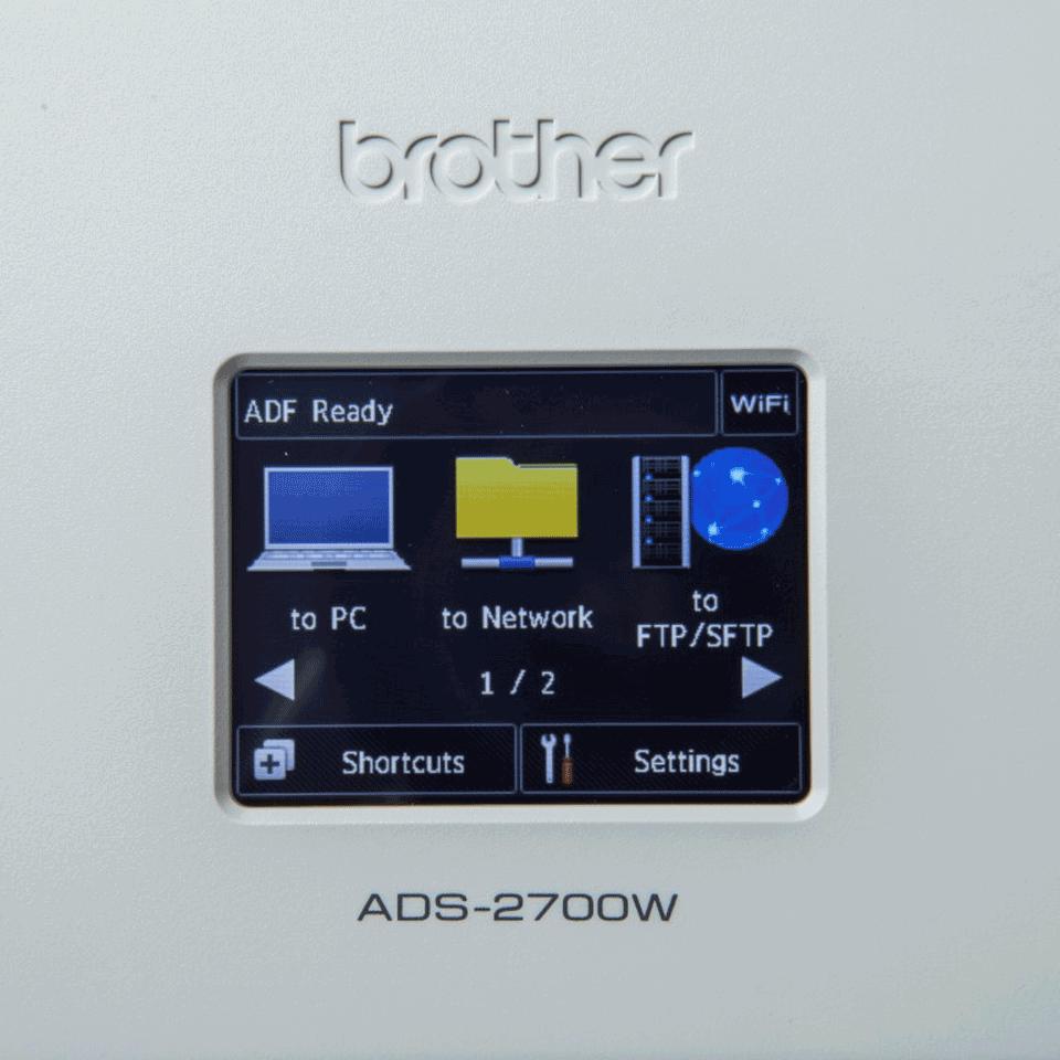 Brother ADS-2700W bezvadu, vadu tīkla galda skeneris 7