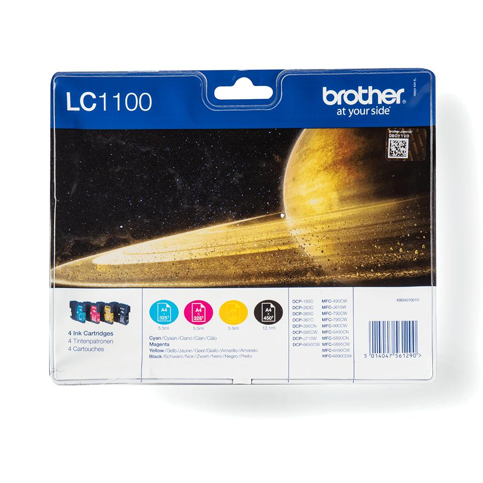 Oriģināla Brother LC1100VALBPDR  printera kasetņu  tintes multipaka