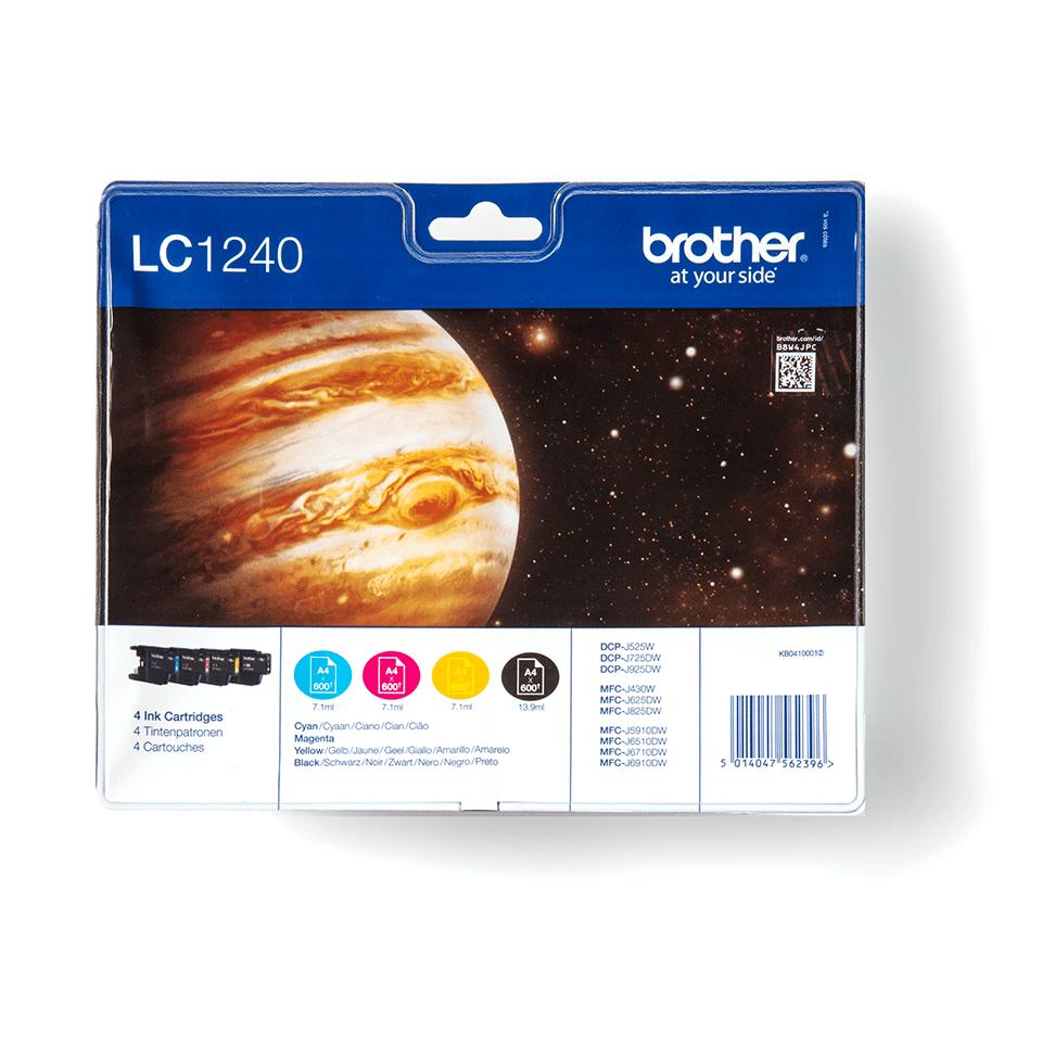 Oriģināla Brother LC1240VALBPDR tintes kasetņu multipaka