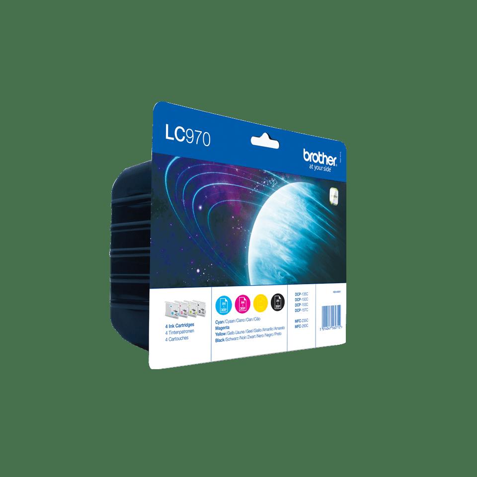 Oriģināla Brother LC970VALBPDR tintes kasetņu multipaka 2