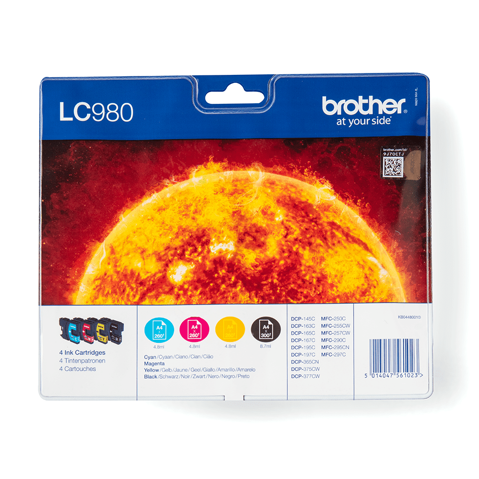 Genuine Brother LC980VALBP Ink Cartridge Multipack