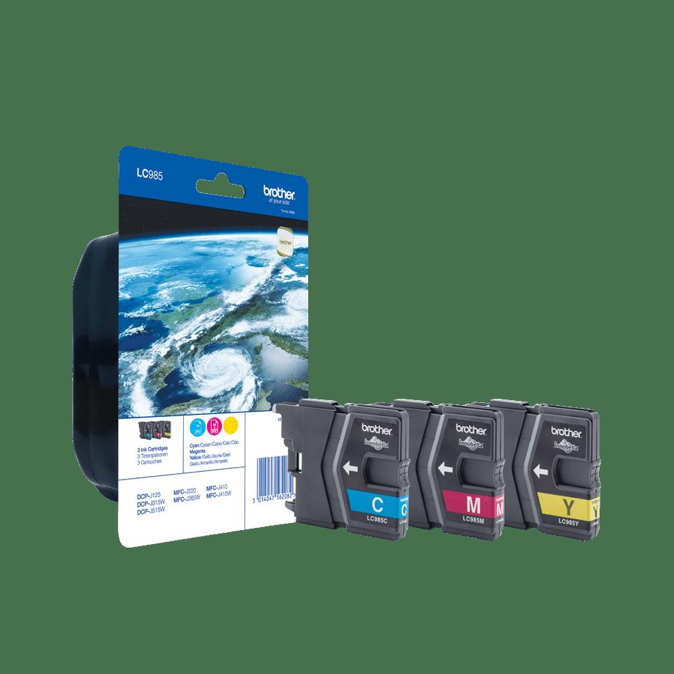 Oriģinālā Brother LC985RBWBP tintes kasetņu paka Rainbow Blister
