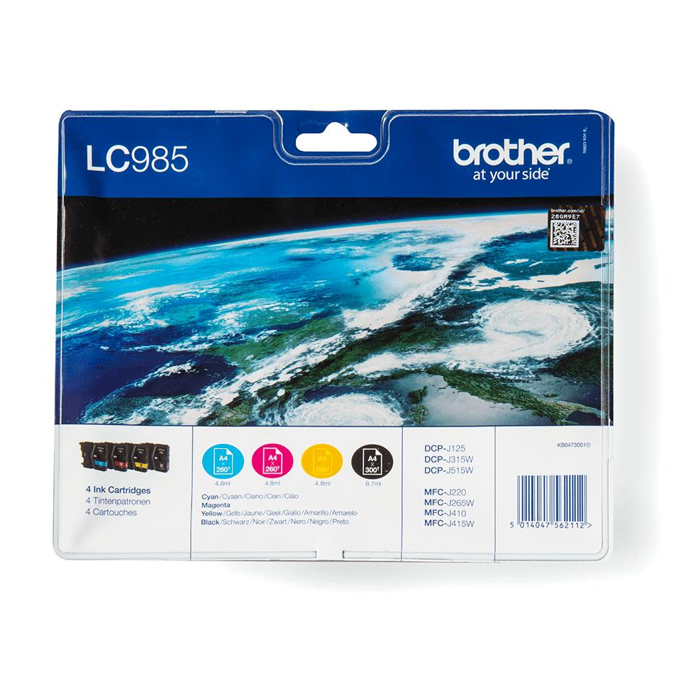 Oriģināla Brother LC985VALBPDR tintes kasetņu multipaka