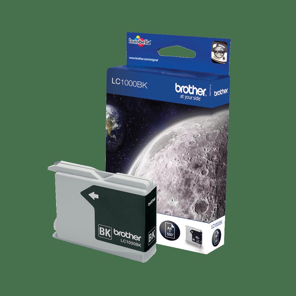 Oriģinālā Brother LC1000BK tintes kasetne – melna