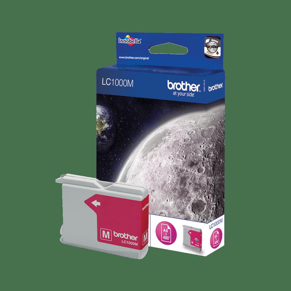 Oriģinālā Brother LC1000M tintes kasetne - fuksīna krāsa