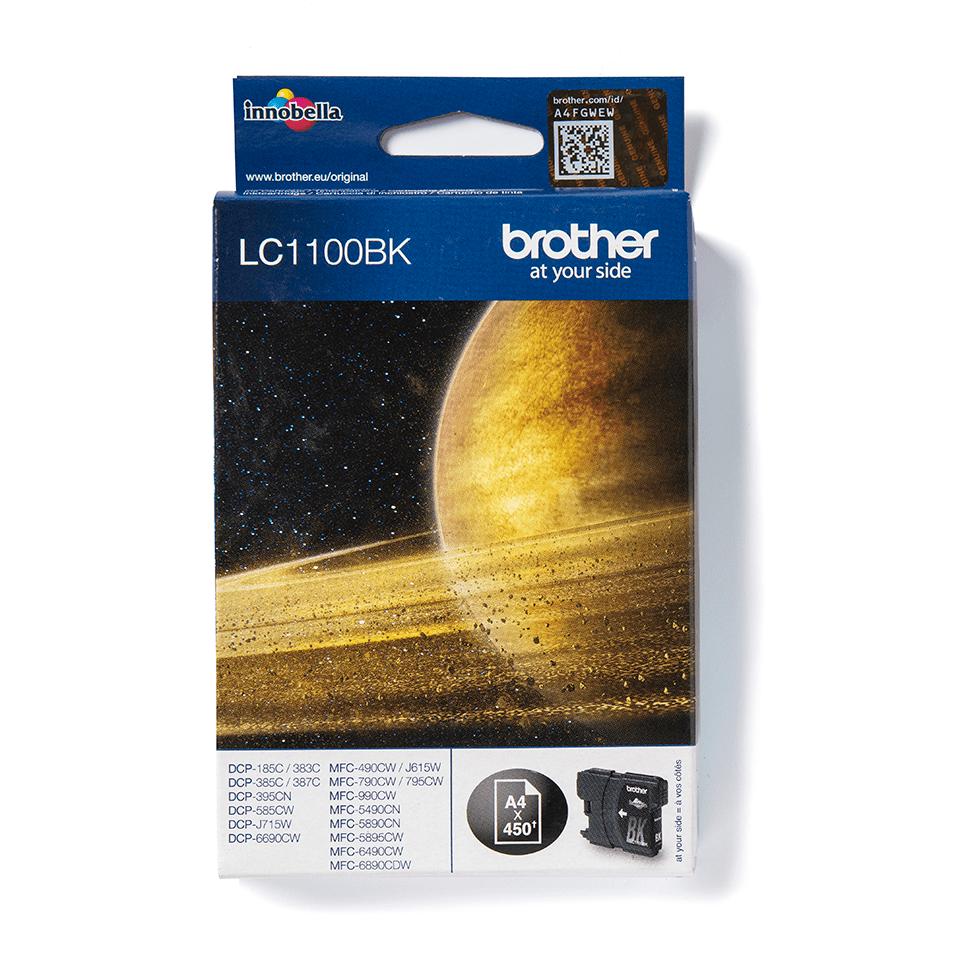 Oriģinālā Brother LC1100BK tintes kasetne – melna