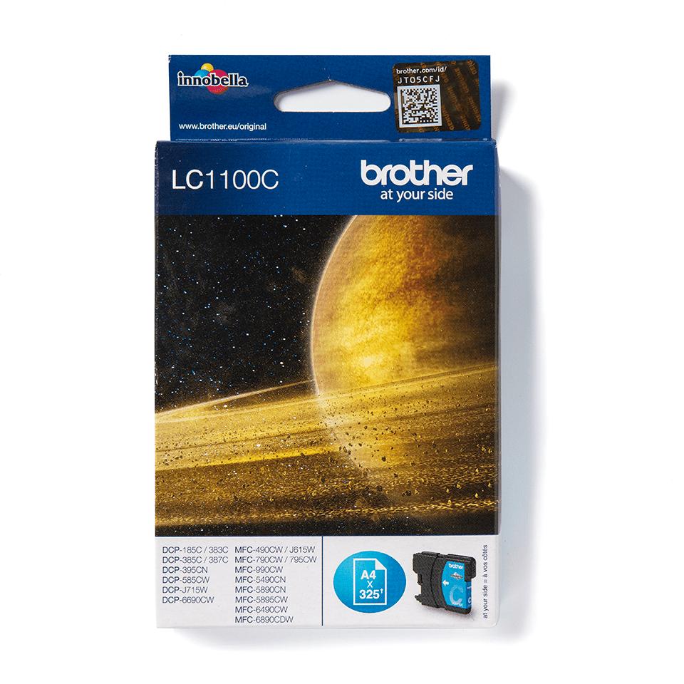 Oriģinālā Brother LC1100C tintes kasetne - ciāna krāsa