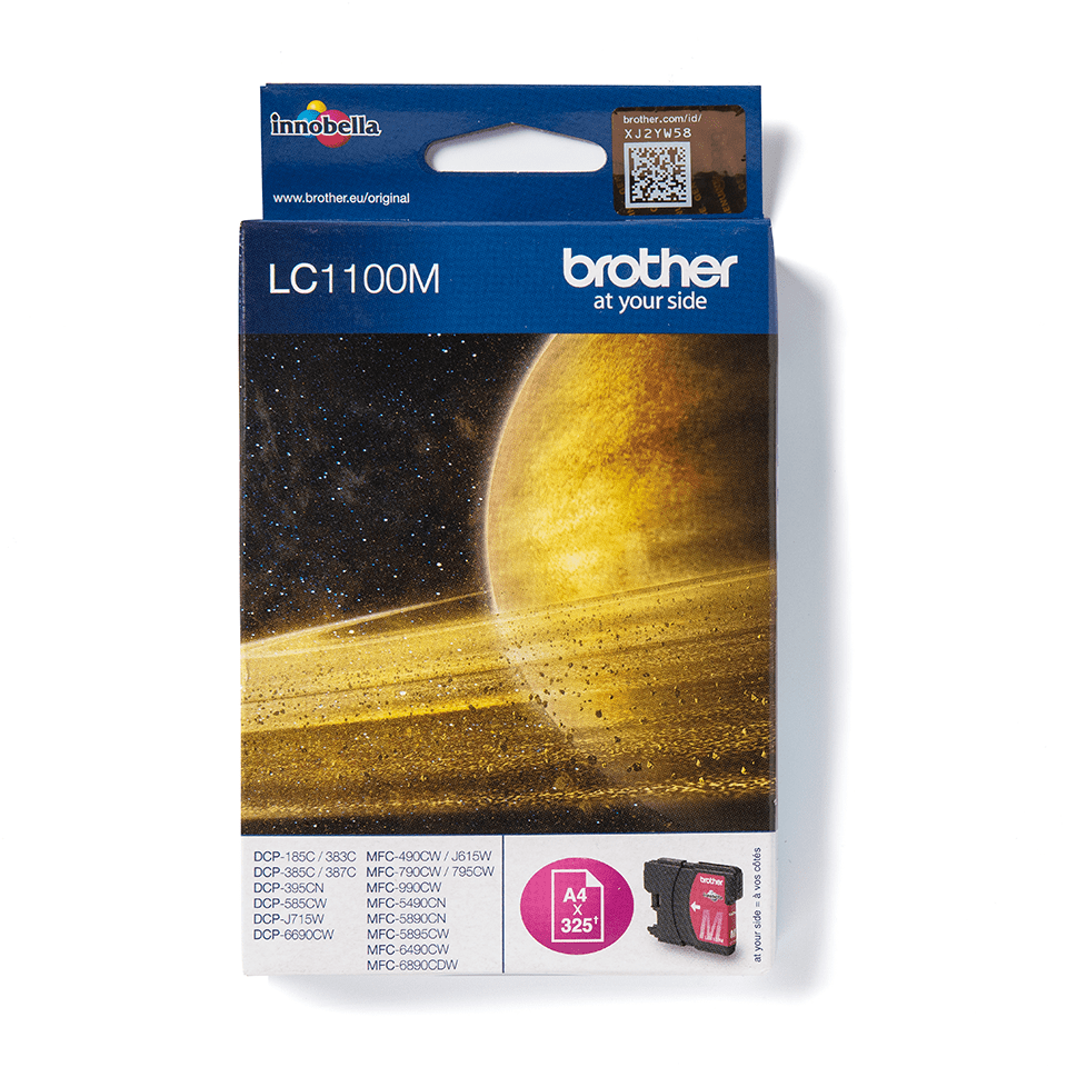 Oriģinālā Brother LC1100M tintes kasetne - fuksīna krāsa
