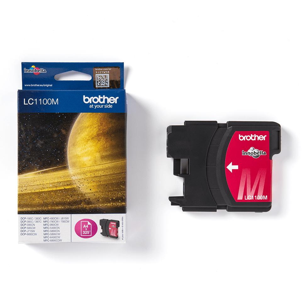 Oriģinālā Brother LC1100M tintes kasetne - fuksīna krāsa 3