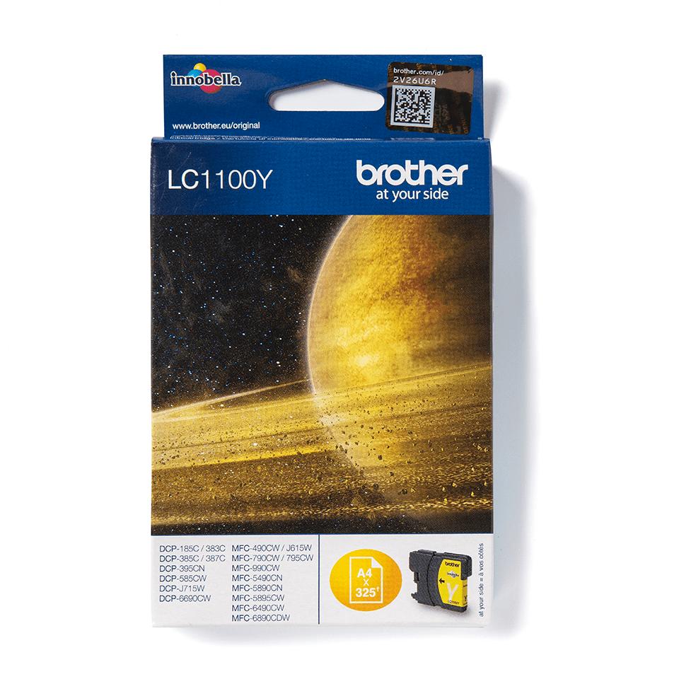 Oriģinālā Brother LC1100Y tintes kasetne - dzeltena