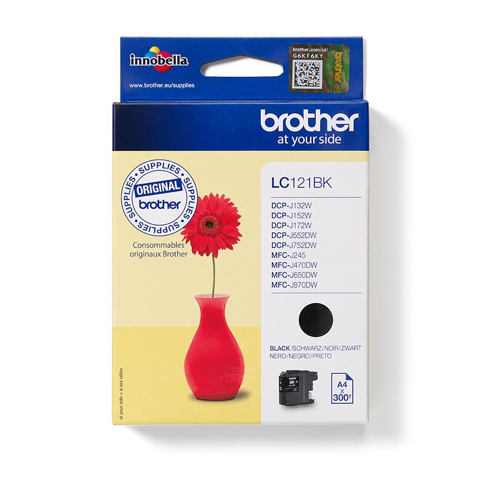 Oriģinālā Brother LC121BK tintes kasetne – melna