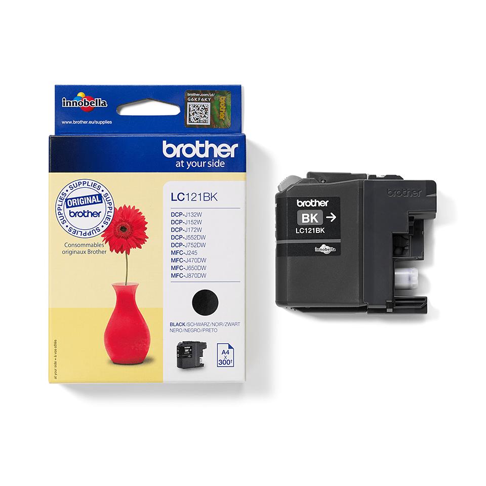 Oriģinālā Brother LC121BK tintes kasetne – melna 2