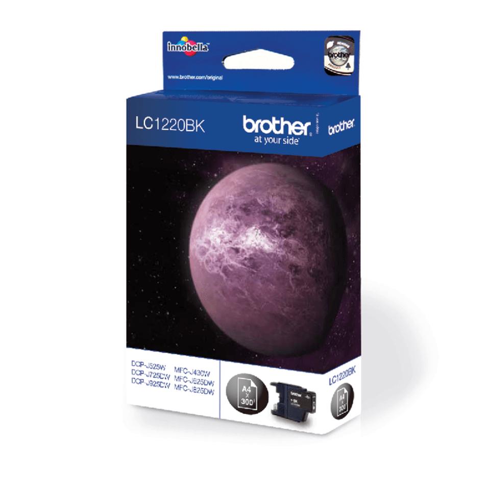 Oriģinālā Brother LC1220BK tintes kasetne, melna 2