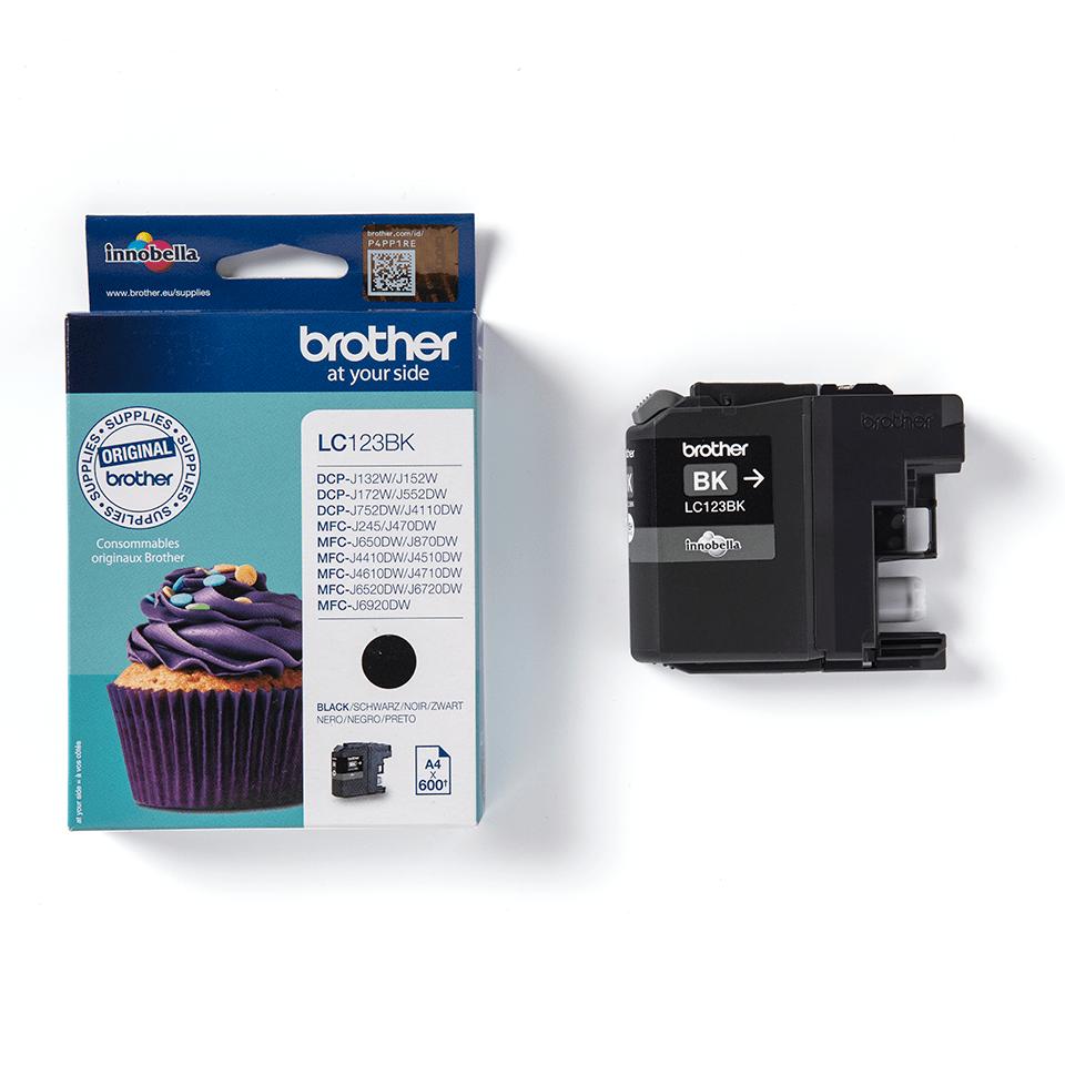 Oriģināla Brother LC123BK tintes kasetne – melna 2