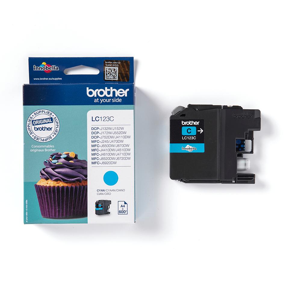 Oriģinālā Brother LC123C tintes kasetne - ciāna 3