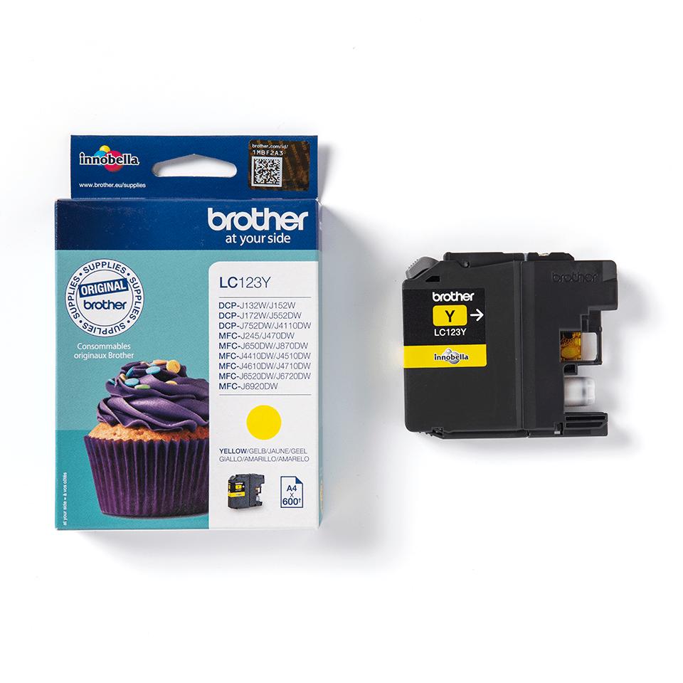 Oriģinālā Brother LC123Y tintes kasetne - dzeltena krāsa 3