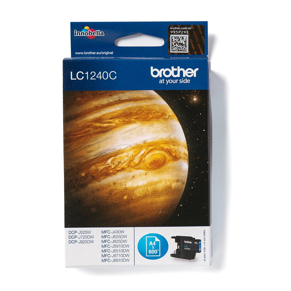 Oriģinālā Brother LC1240C tintes kasetne, ciāna