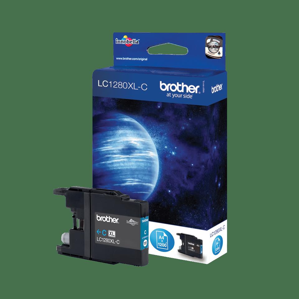 Oriģināla Brother LC1280XLC augsta ražīguma tintes kasetne - ciāna