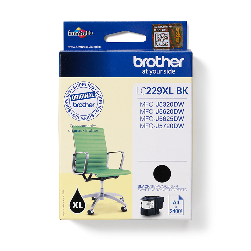 Genuine Brother LC229XLBK Ink Cartridge – Black