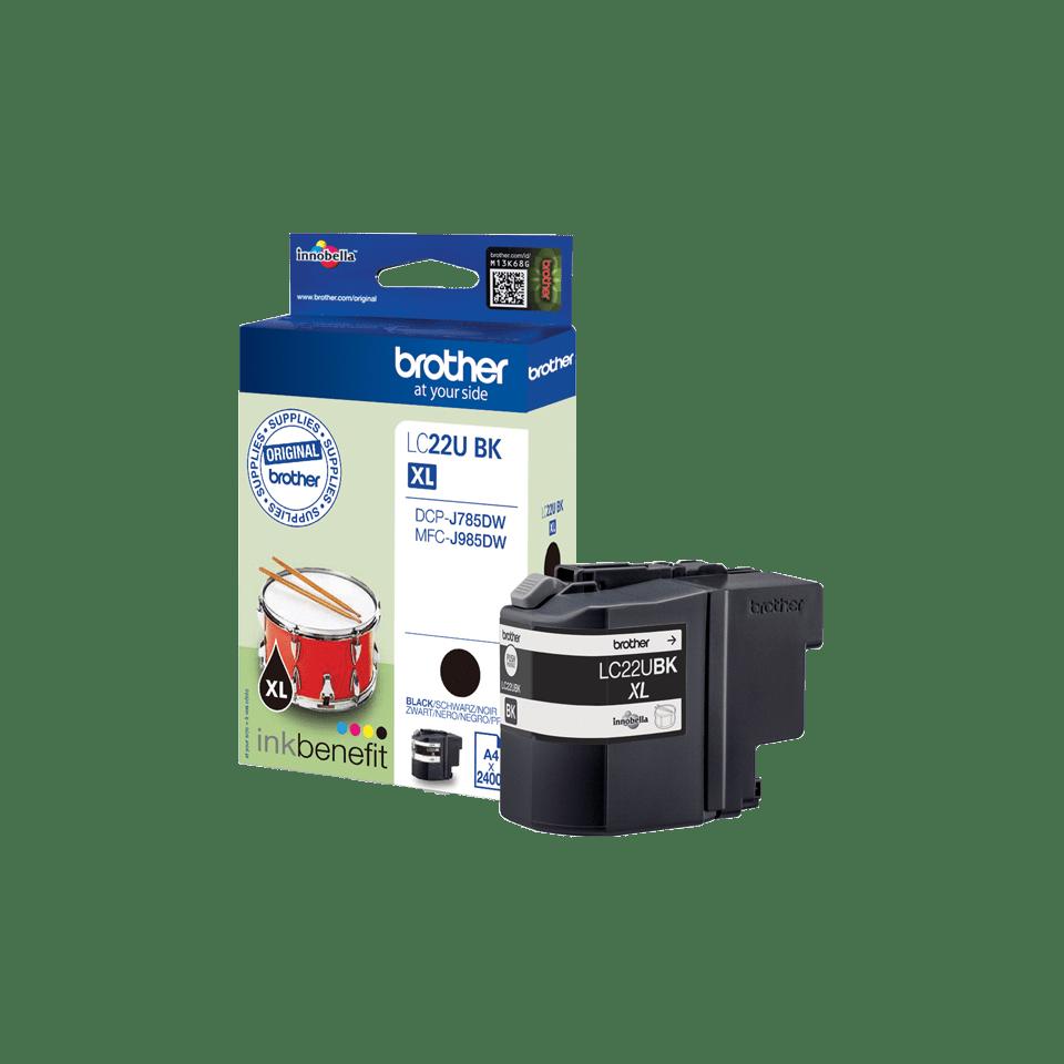 Oriģinālā Brother LC22UBK tintes kasetne, melna