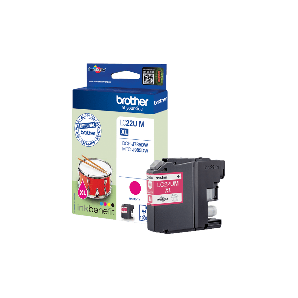 Genuine Brother LC22UM Ink Cartridge – Magenta