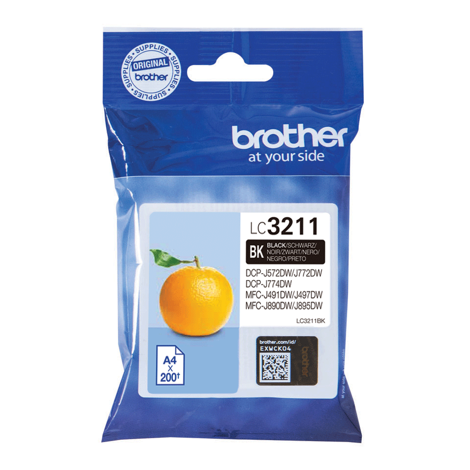 Oriģināla Brother LC3211BK tintes kasetne - melna