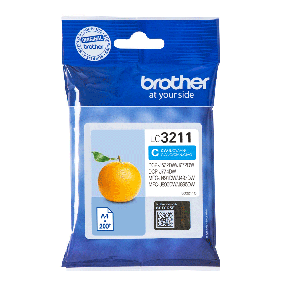 Oriģināla Brother LC3211C tintes kasetne - ciāna