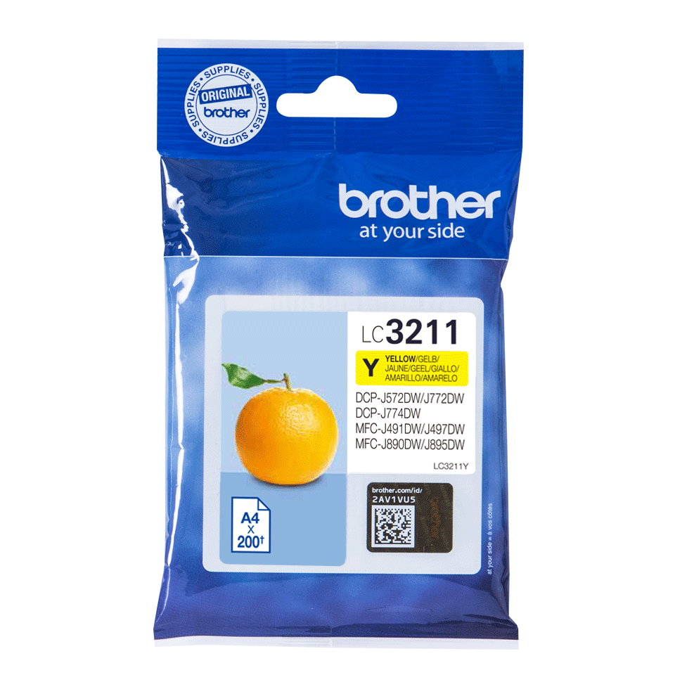 Oriģināla Brother LC3211Y tintes kasetne - dzeltena