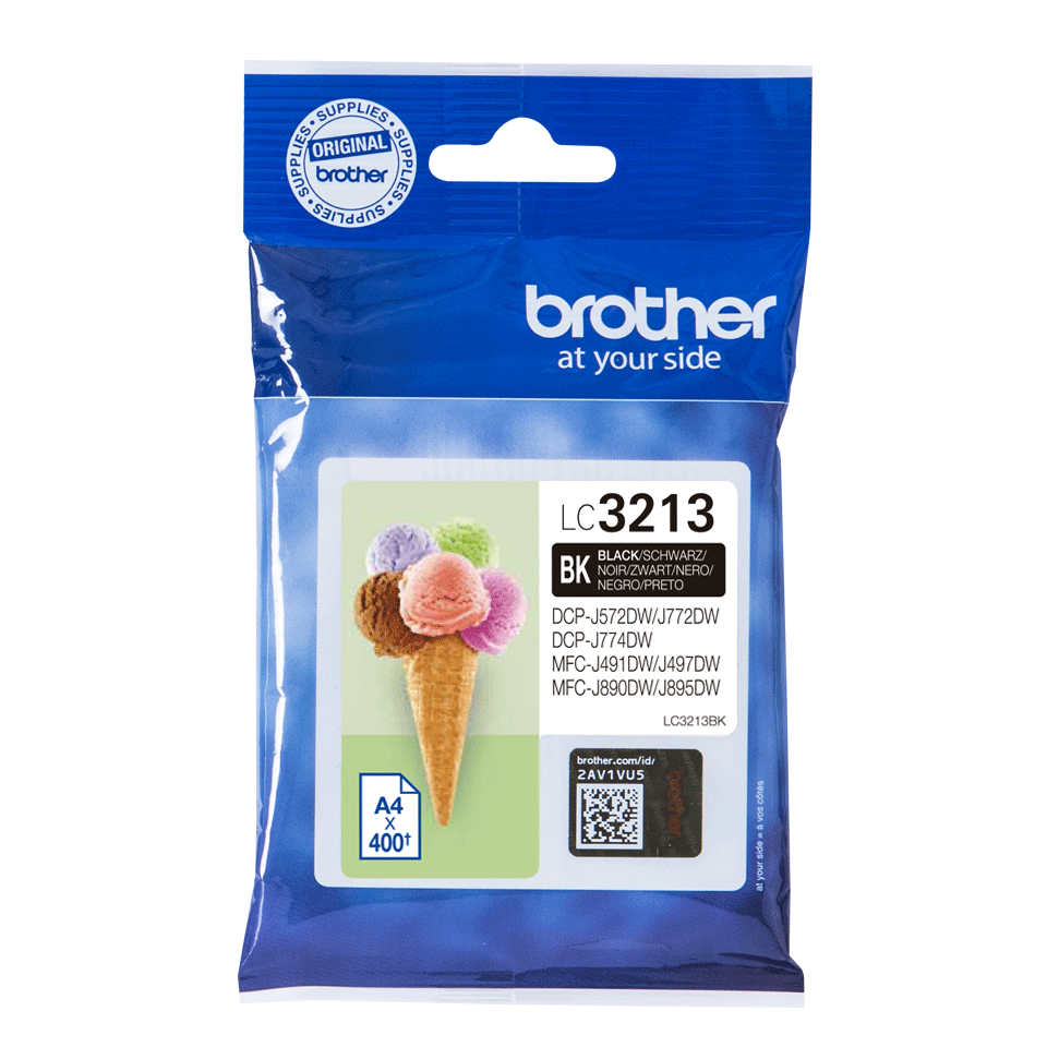 Brother oriģināla LC3213BK tintes kasetne - melna