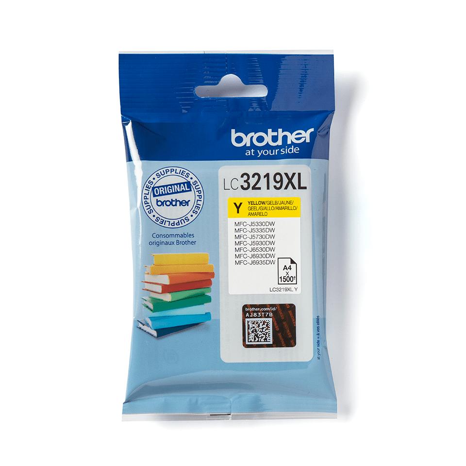 Oriģināla Brother LC3219XLY tintes kasetne dzeltenā krāsā
