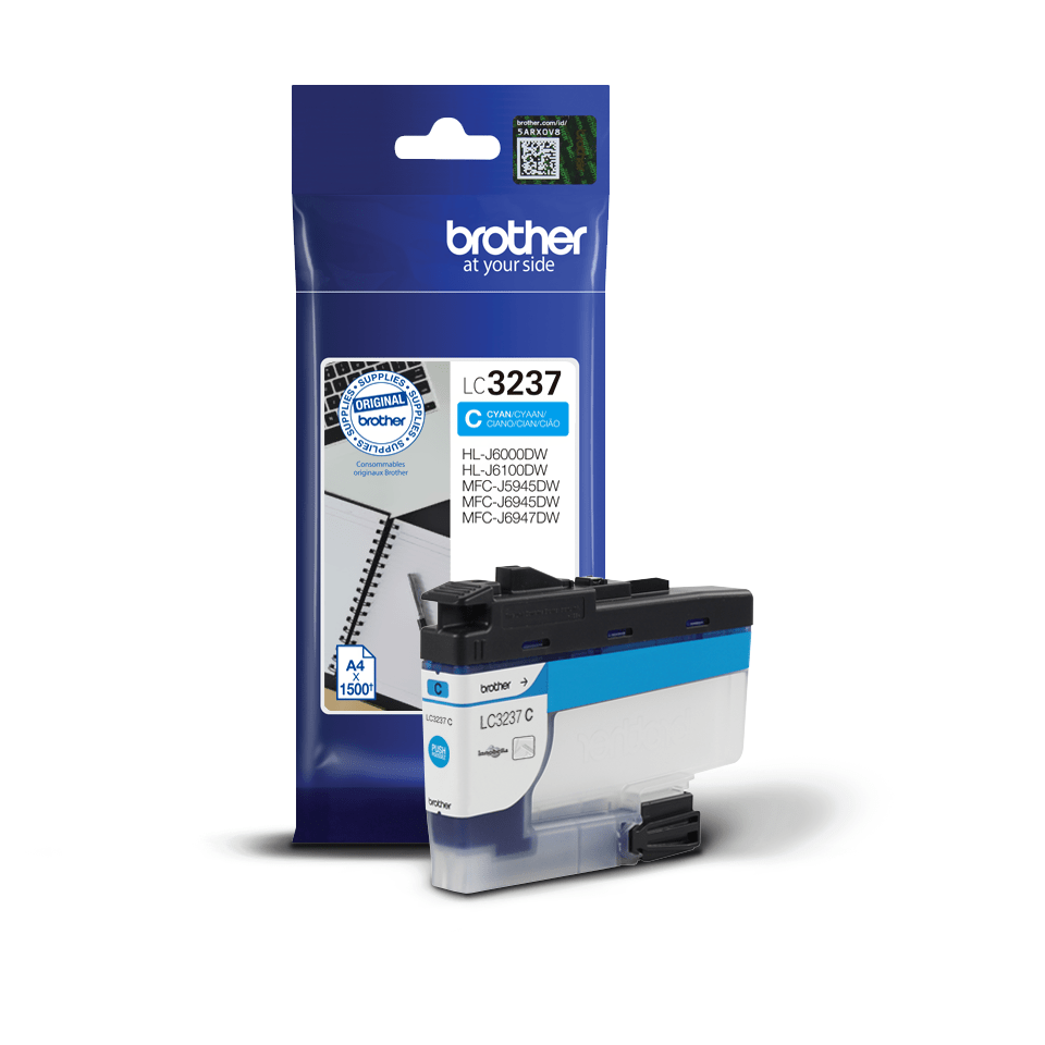 Oriģināla Brother LC3237C tintes kasetne - ciāna 2