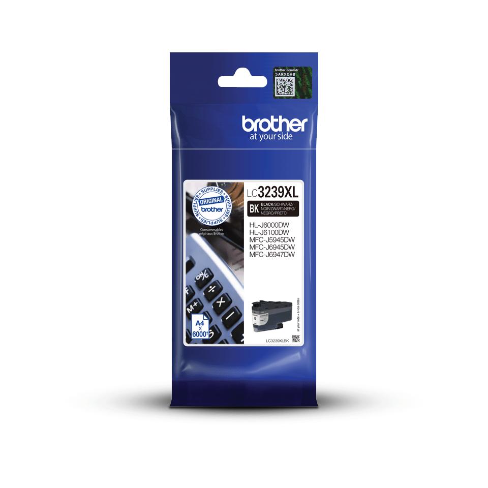 Oriģināla Brother LC3239XLBK lielas ietilpības tintes kasetne - melna