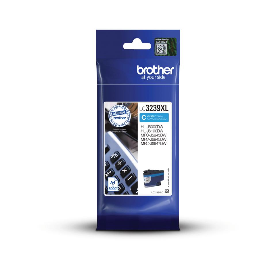Oriģināla Brother LC3239XLC lielas ietilpības tintes kasetne – ciāna