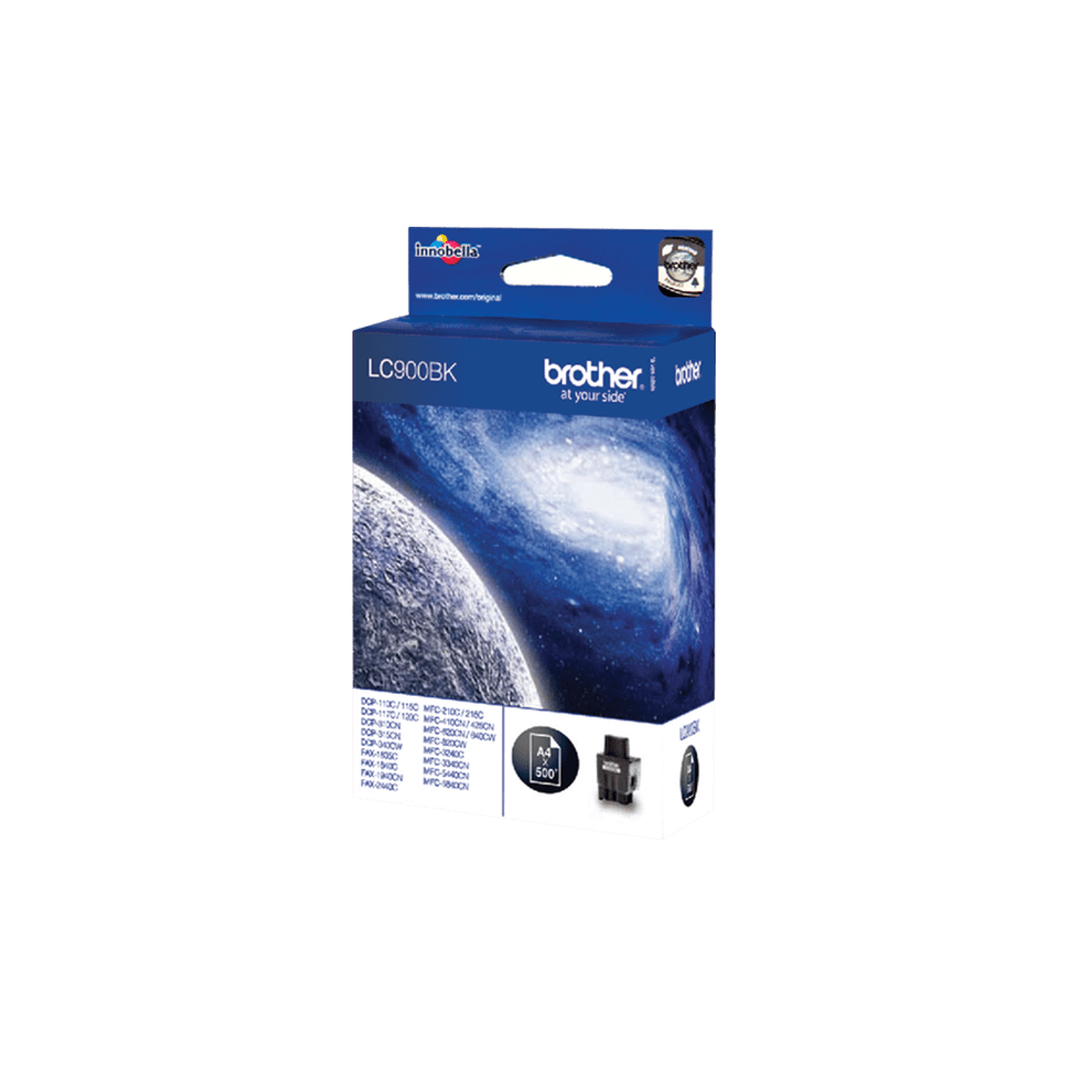 Oriģināla Brother  LC900BK  augstas ražības tintes kasetne, melna 2