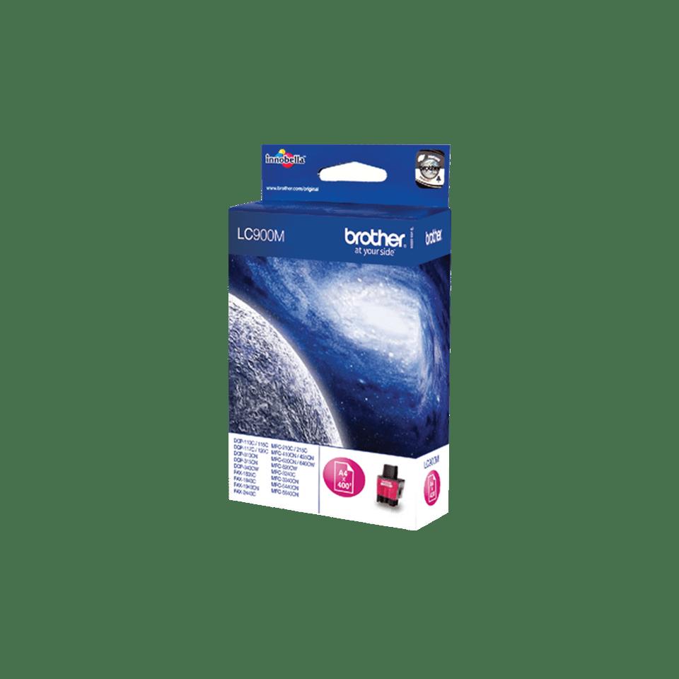Oriģināla Brother LC900M  tintes kasetne - fuksīna 2