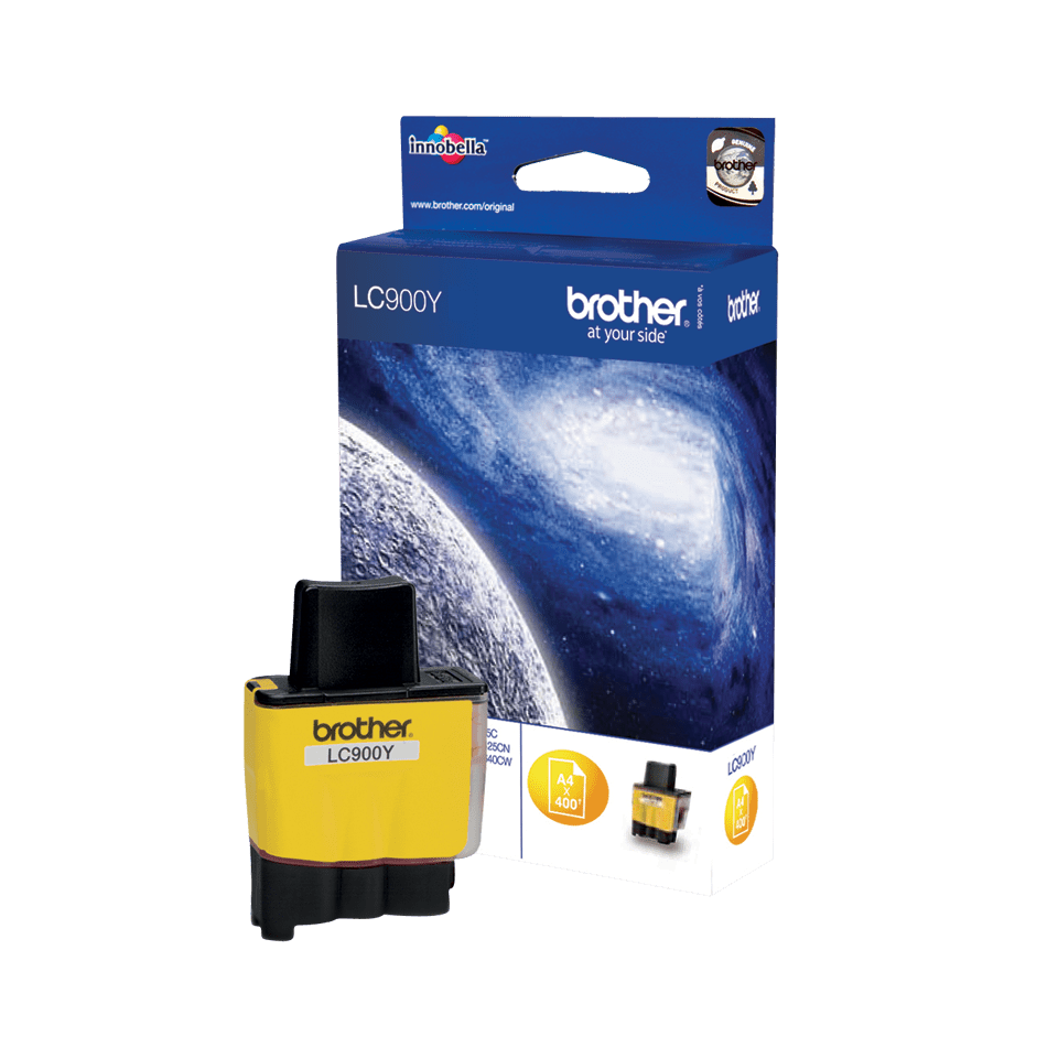 Oriģināla Brother  LC900Y  tintes kasetne, dzeltena